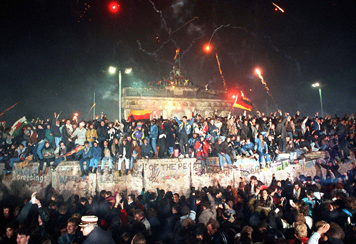 Silvester 1989 am Brandenburger Tor